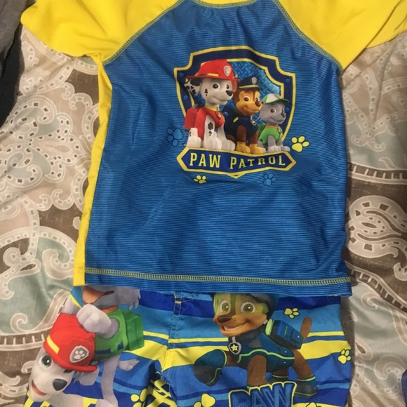 59b5bfe5a5 Nickelodeon Swim | Toddler Boys Paw Patrol Trunks And Rash Guard ...